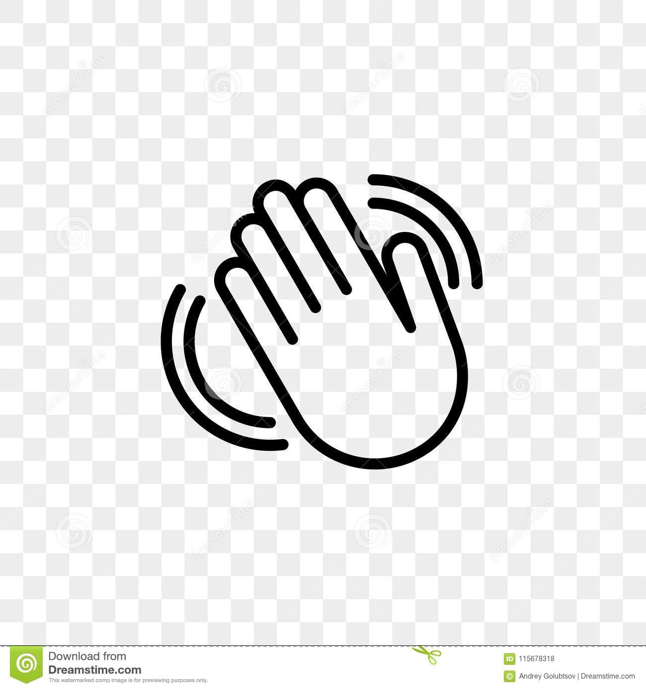 Hand Waving Vector Icon Of Hello Welcome Gesture Line