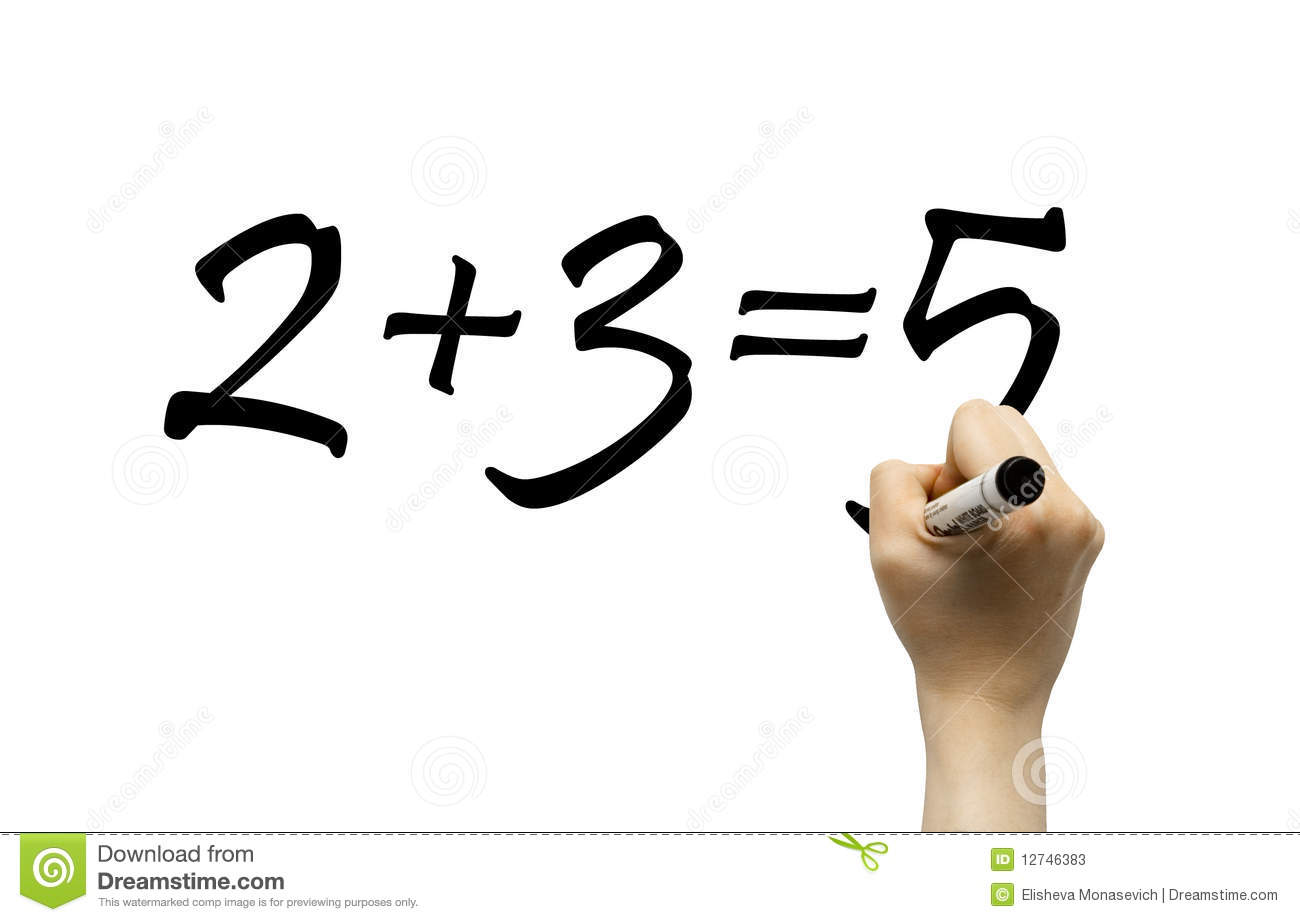 Simple Math Formula Royalty Free Stock Image