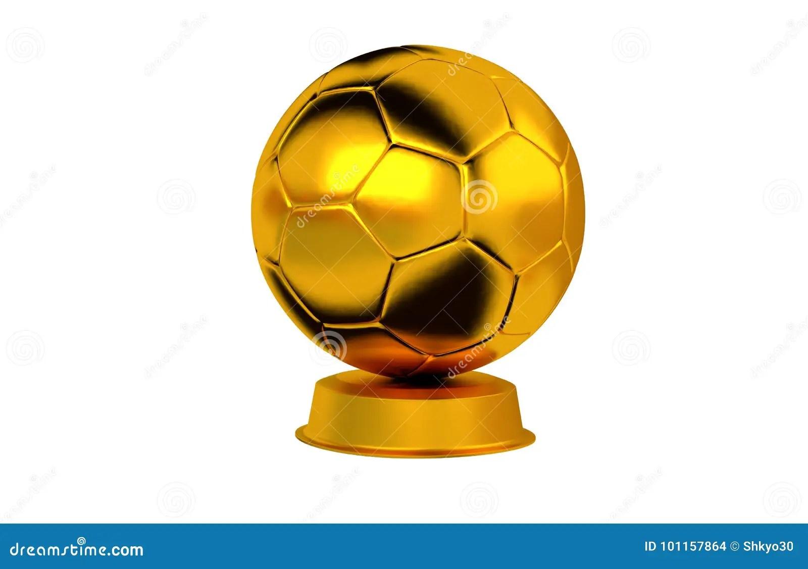 handball goldene trophae stock