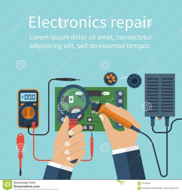 Electronics Repair. Tech Repairs. Stock Vector ...