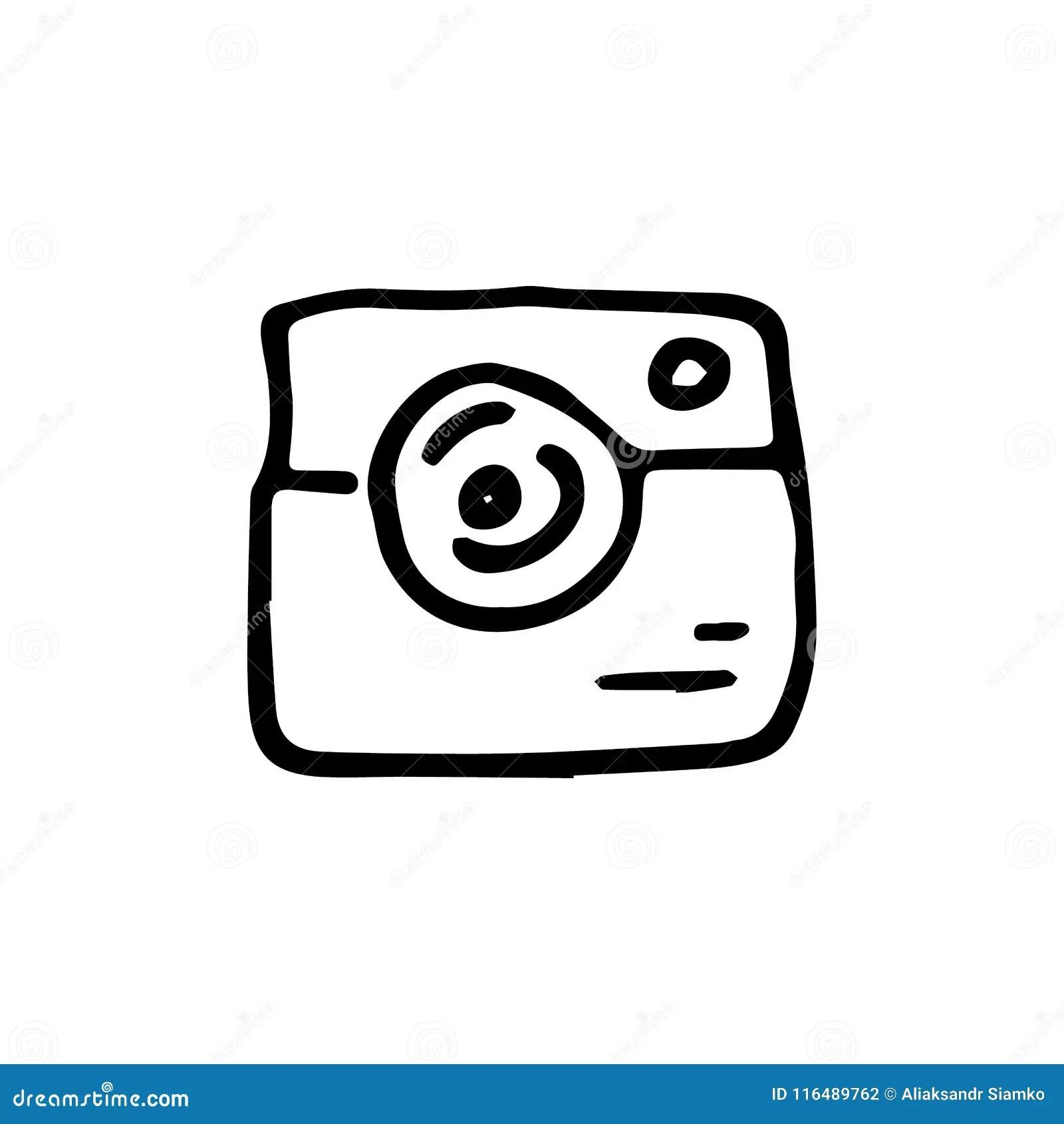 Retro Photo Camera Icon, Cartoon Style Cartoon Vector