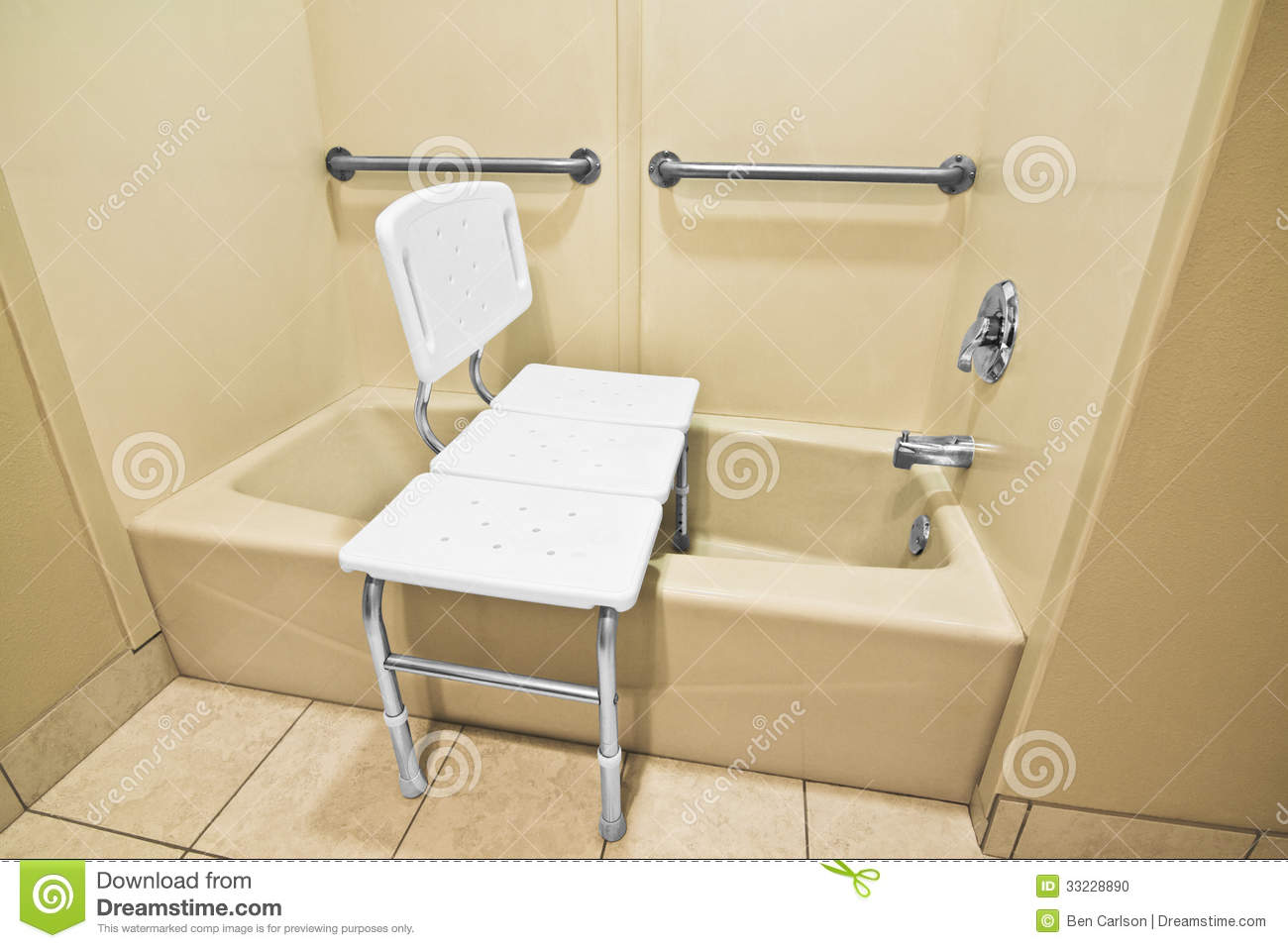 Shower Chairs For Disabled Handicap Bathing Chair Stock Photo Image Of Plastic