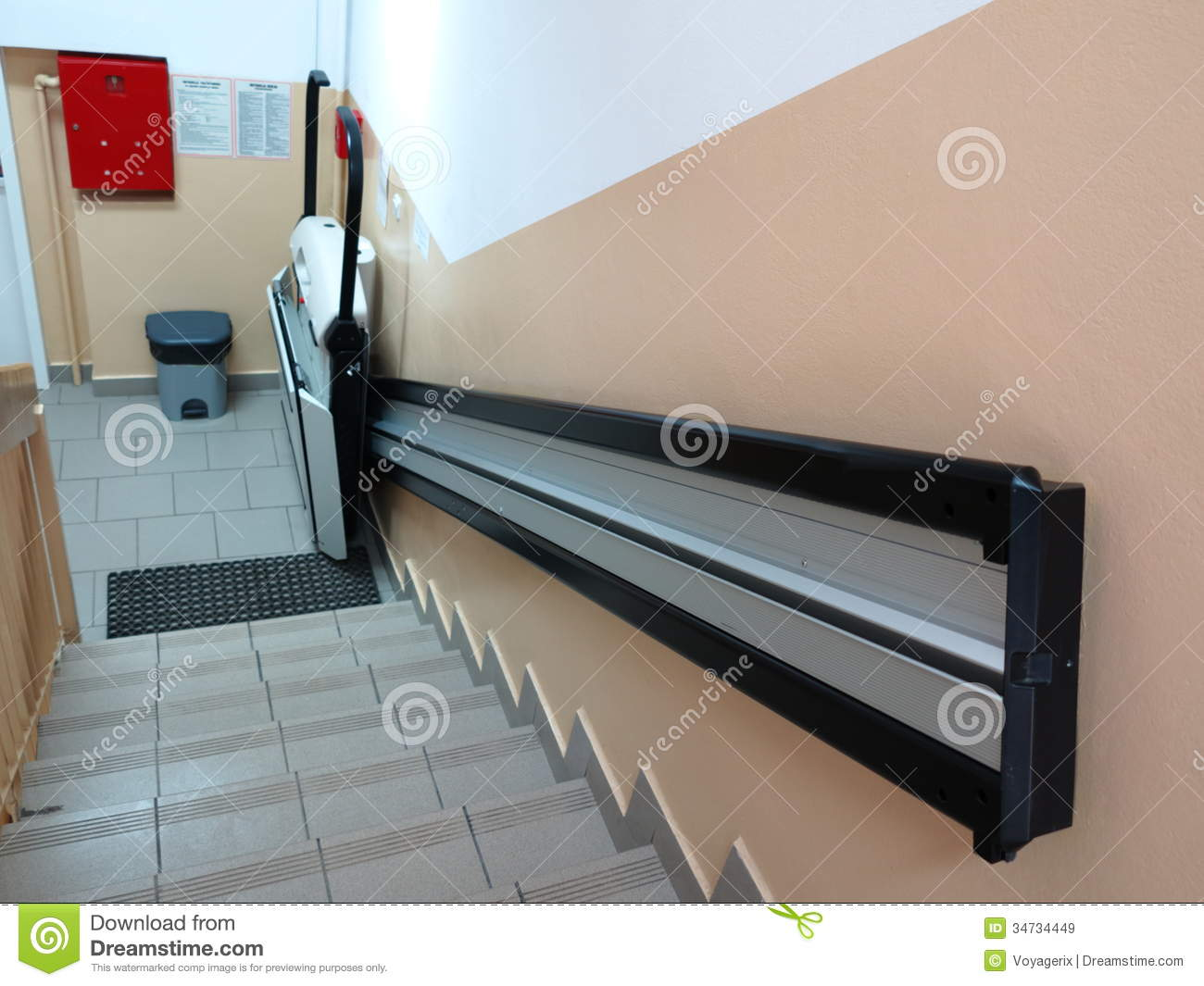 wheelchair elevator tables and chairs for kids handicap lift invalid stock image