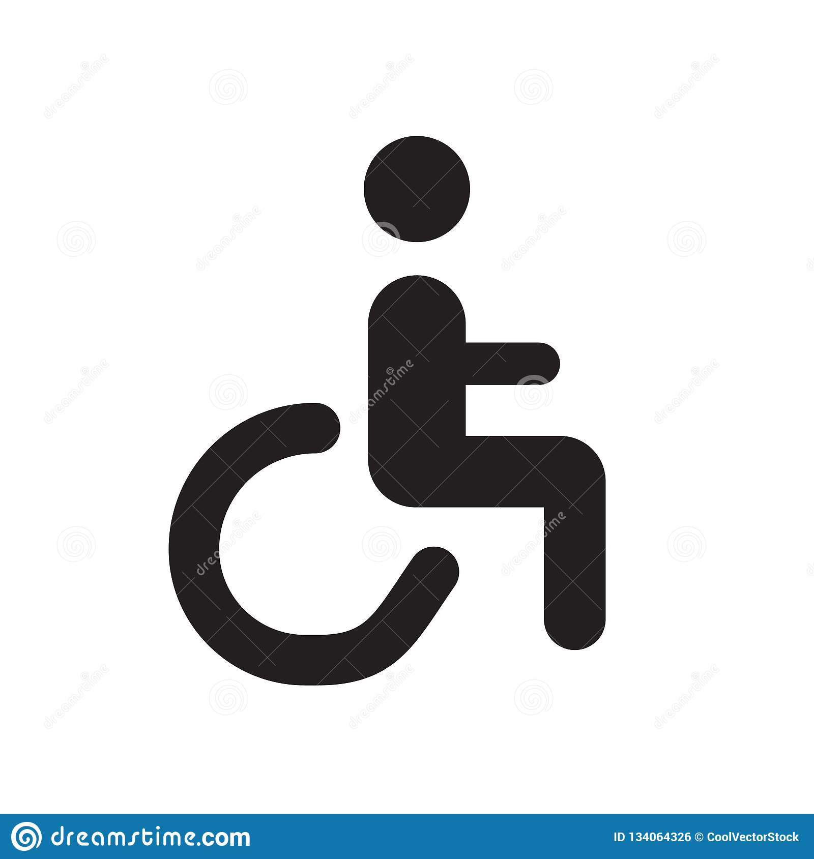 handicap icon vector isolated