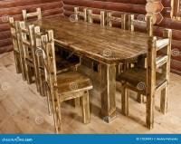 Handmade Large Kitchen Table Stock Image - Image: 17034931