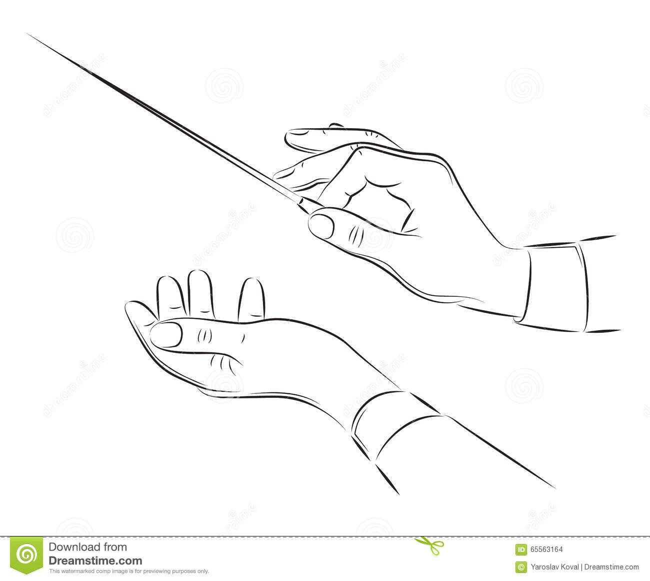 Hands Of Conductor Illustration Royalty Free Illustration