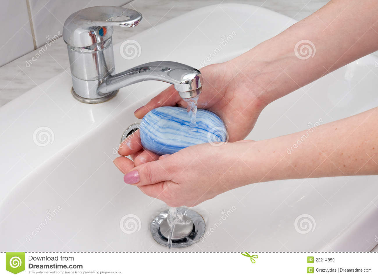 Hands Wash With Soap Stock Photo Image Of Pure Soap