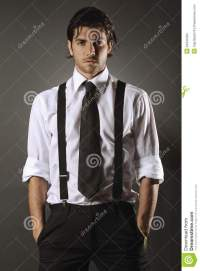 Handsome Fashion Model With Black Tie Stock Photo - Image ...