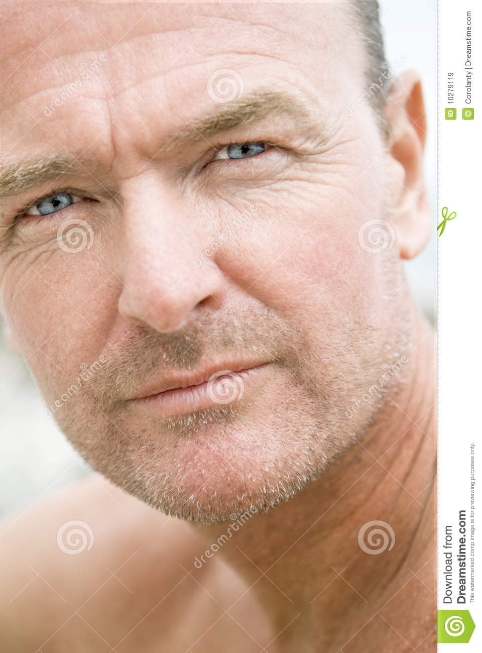 Handsome Forties Man With Stubble Royalty Free Stock