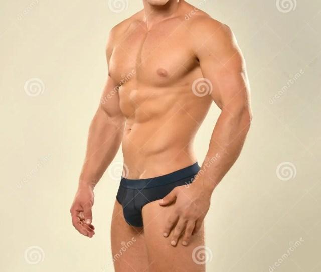 Handsome Man With Naked Torso