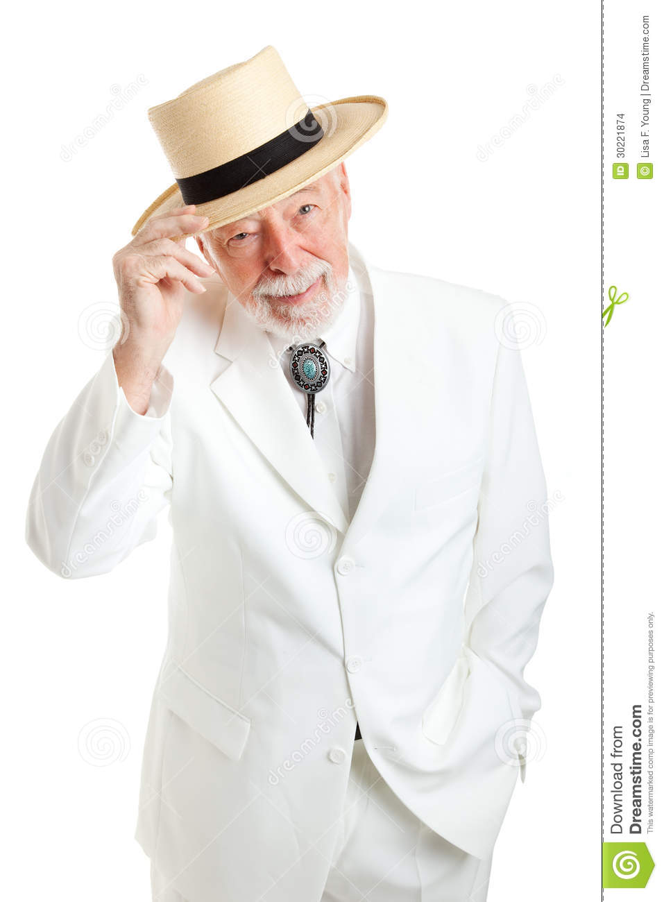 Senior Southern Gentleman Tips Hat Stock Images  Image 30221874