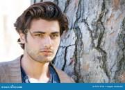 handsome young italian man portrait