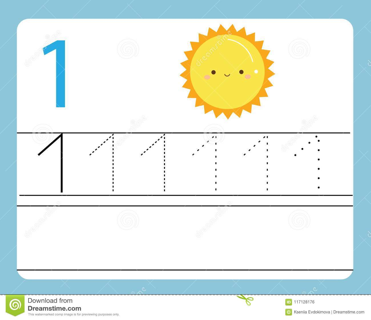 Handwriting Practice Learning Numbers With Cute