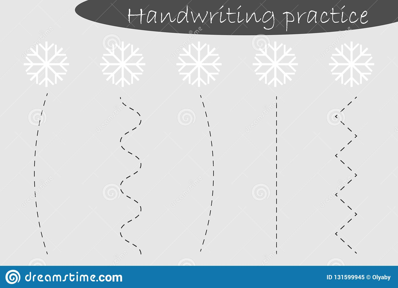 Handwriting Practice Sheet Christmas Theme Snowflakes