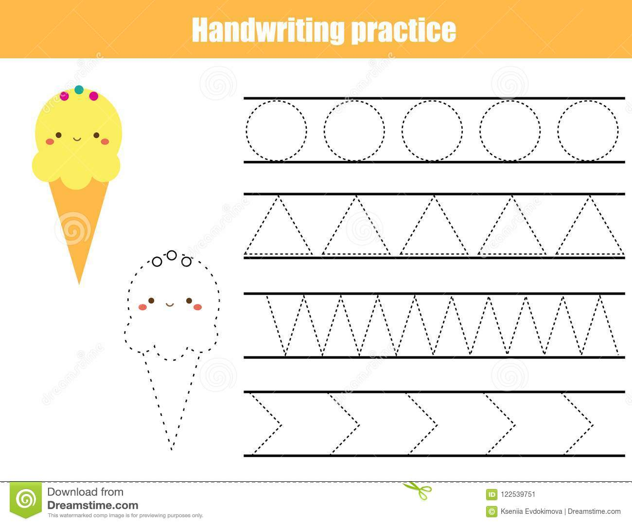 Writing Printable Kindergarten Worksheet Shapes