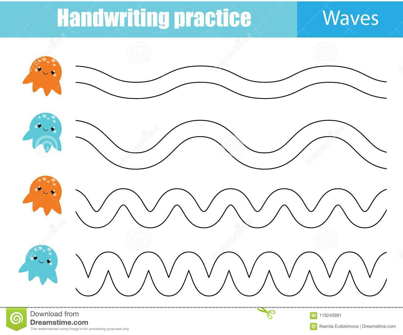 Handwriting Lines Clipart
