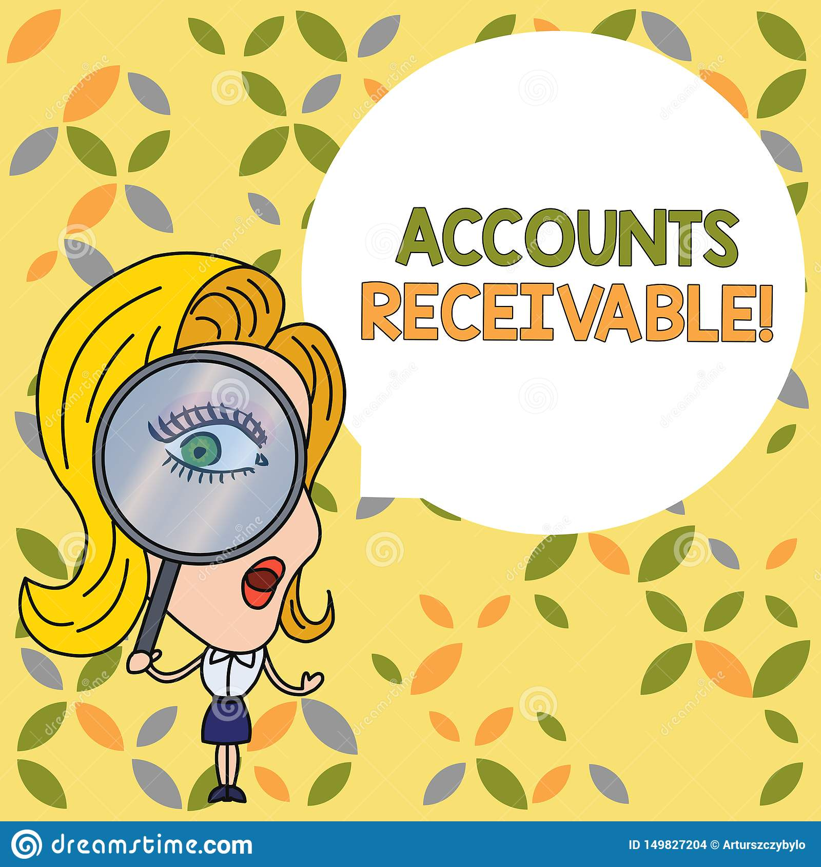 Handwriting Text Accounts Receivable Concept Meaning
