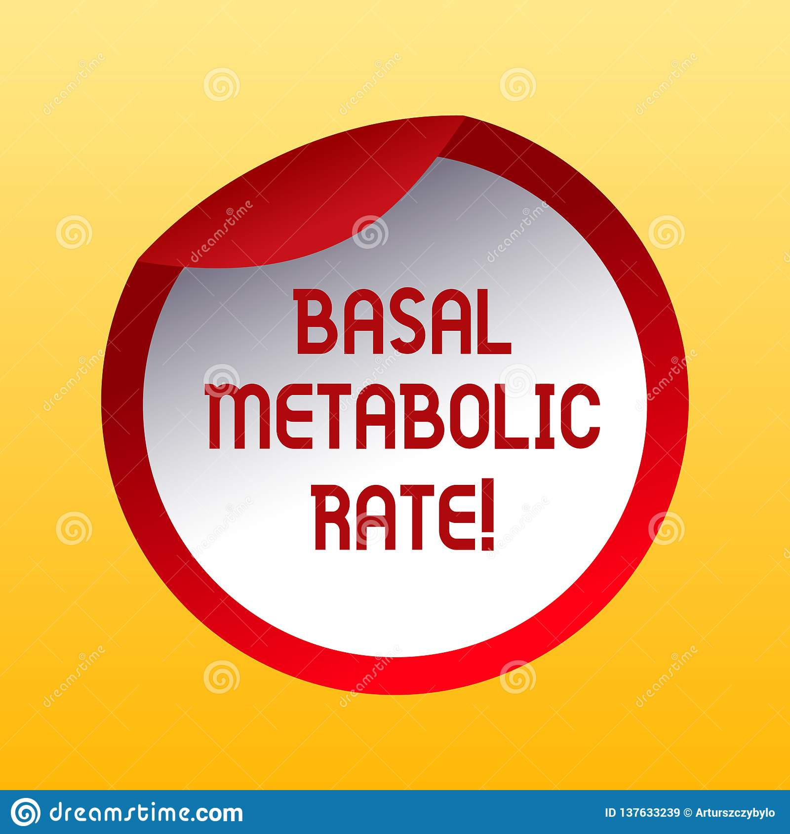 Handwriting Text Basal Metabolic Rate Concept Meaning