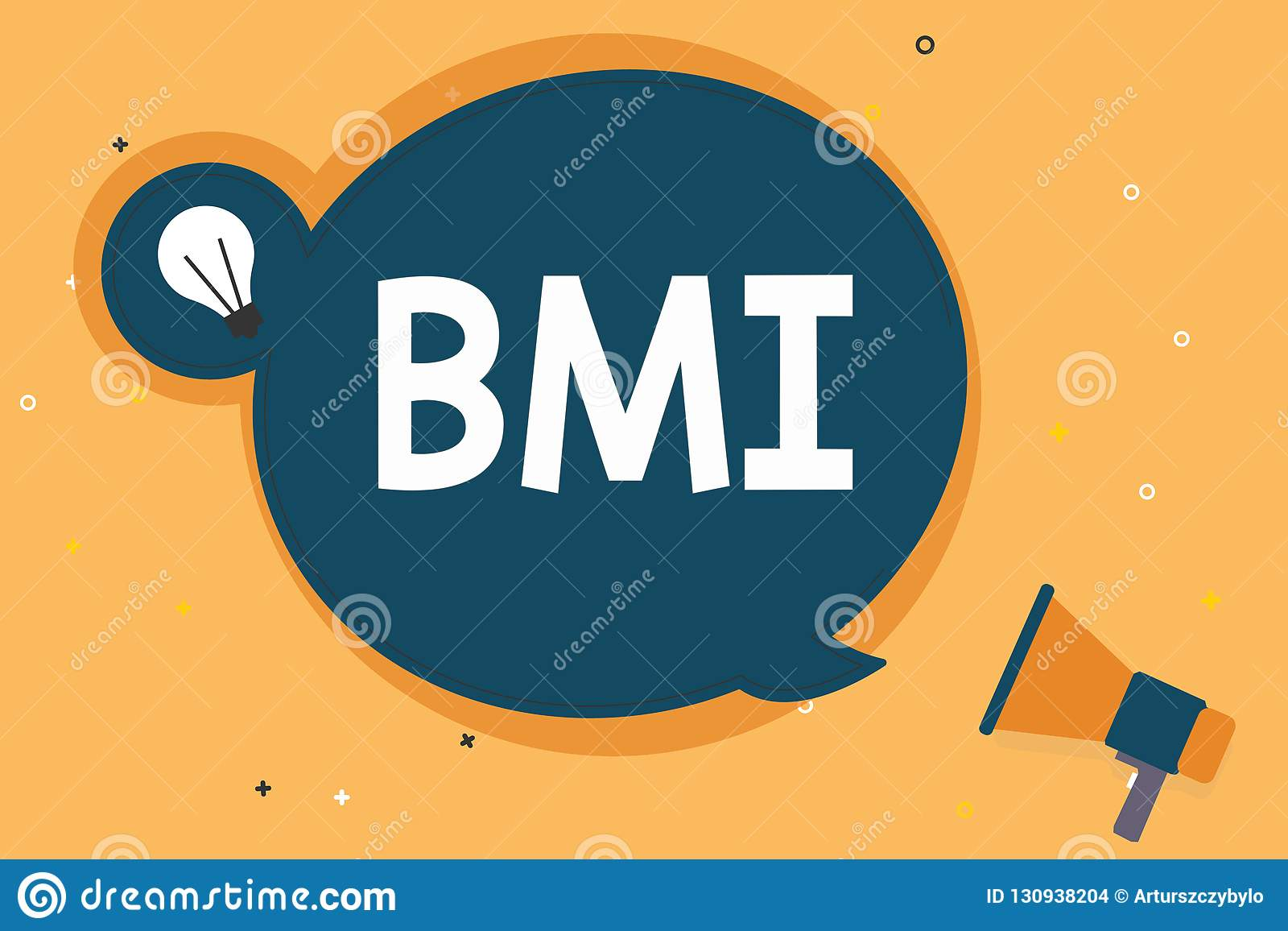 Handwriting Text Bmi Concept Meaning Method Of Estimating