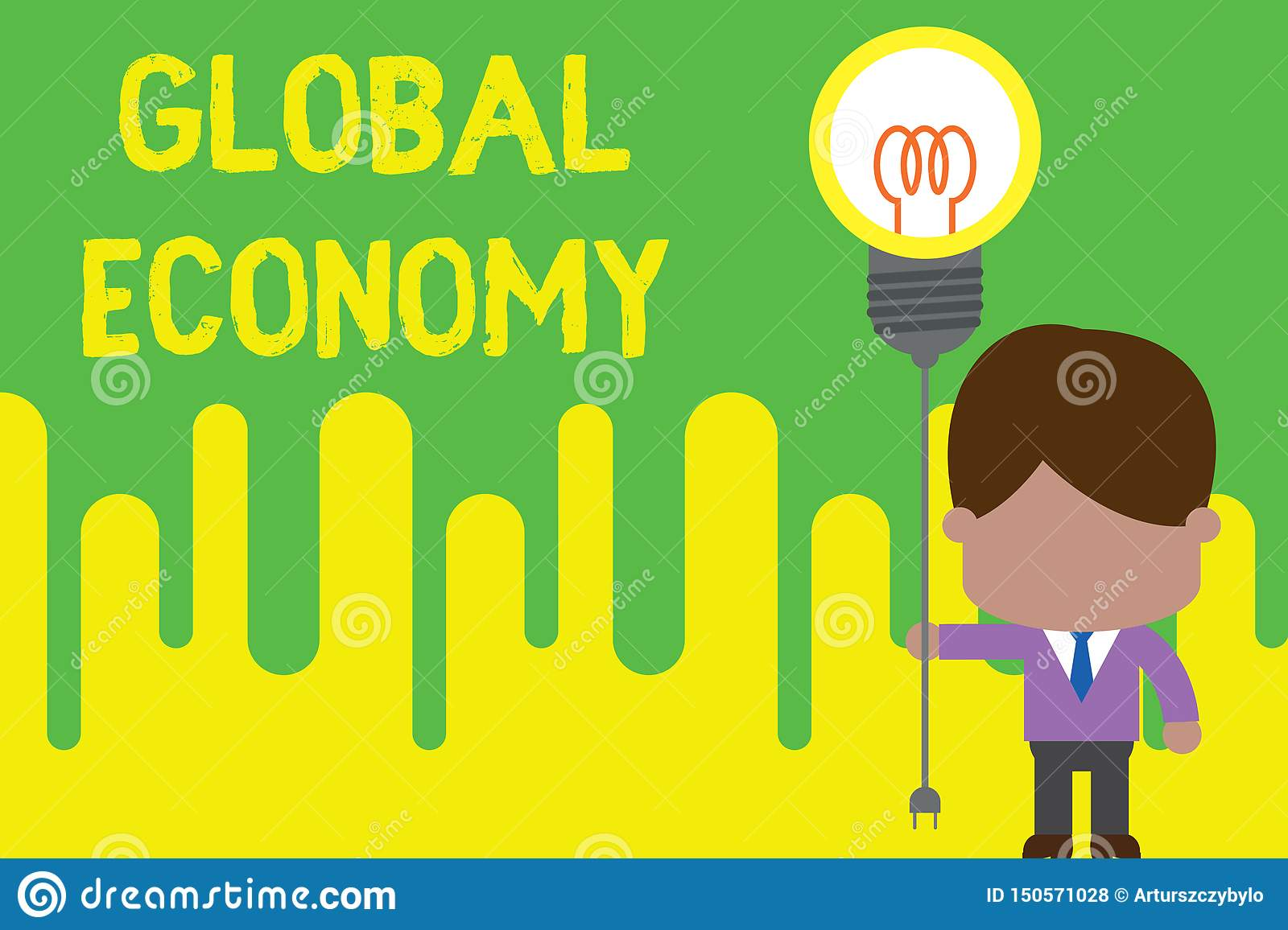 handwriting text global economy