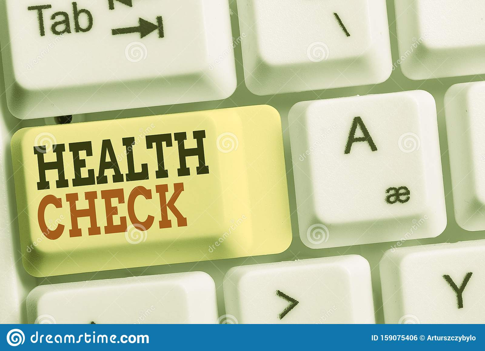 Handwriting Text Health Check Concept Meaning Medical