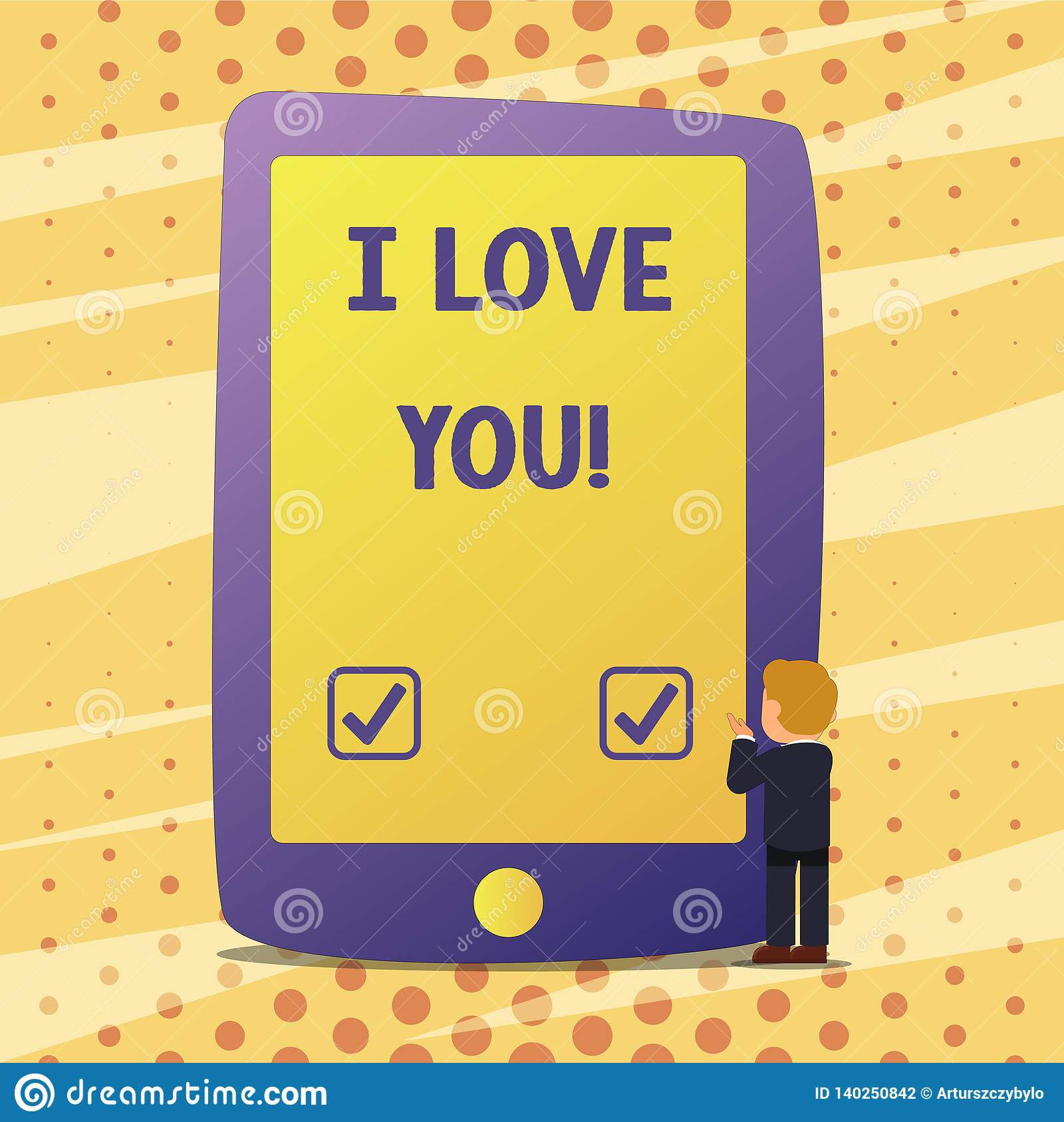 Handwriting Text I Love You Concept Meaning Expressing