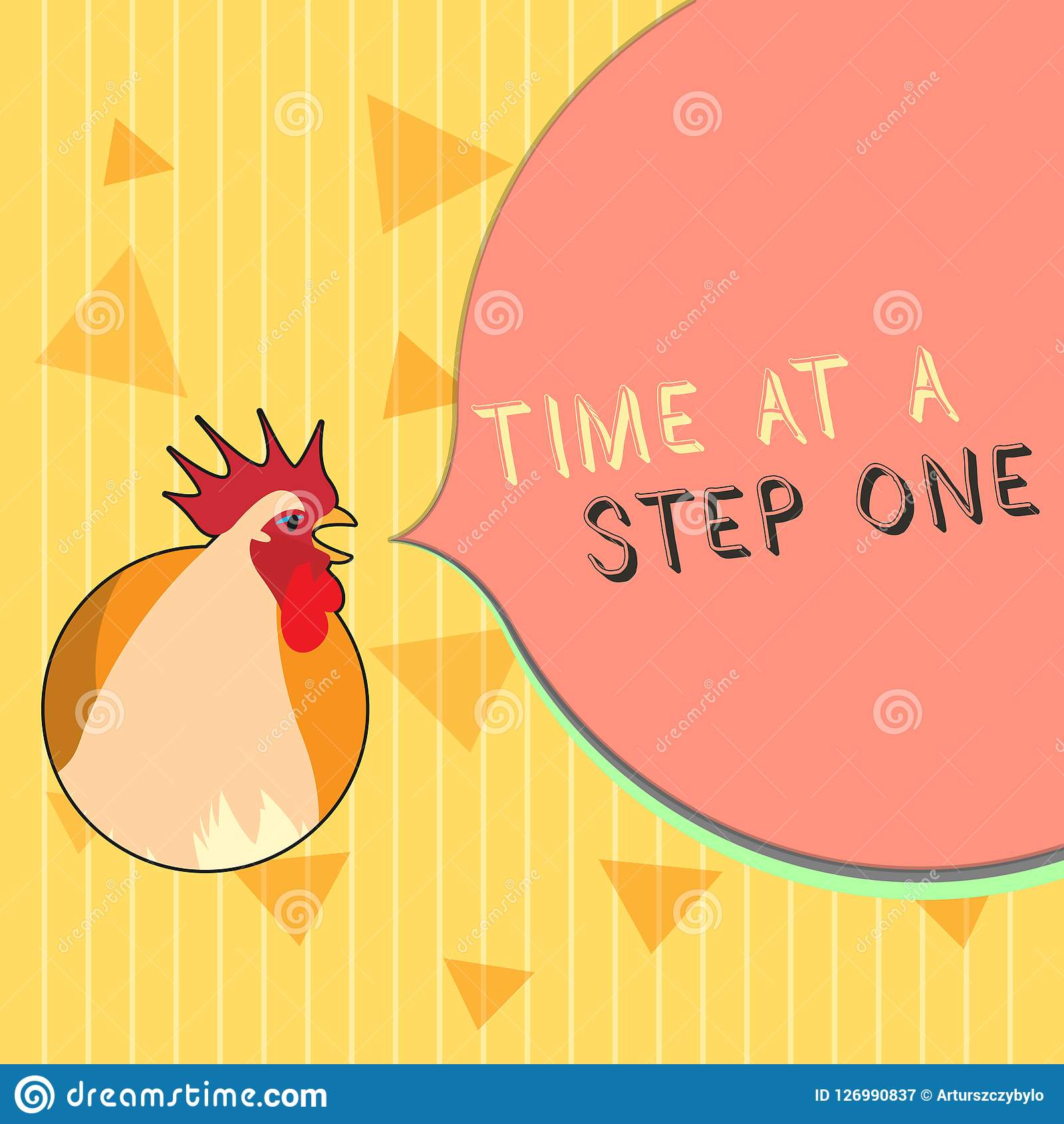 Handwriting Text Time At A Step One. Concept Meaning Slowly But Surely Milestone Careful Gradual Steps Stock Illustration - Illustration of ...