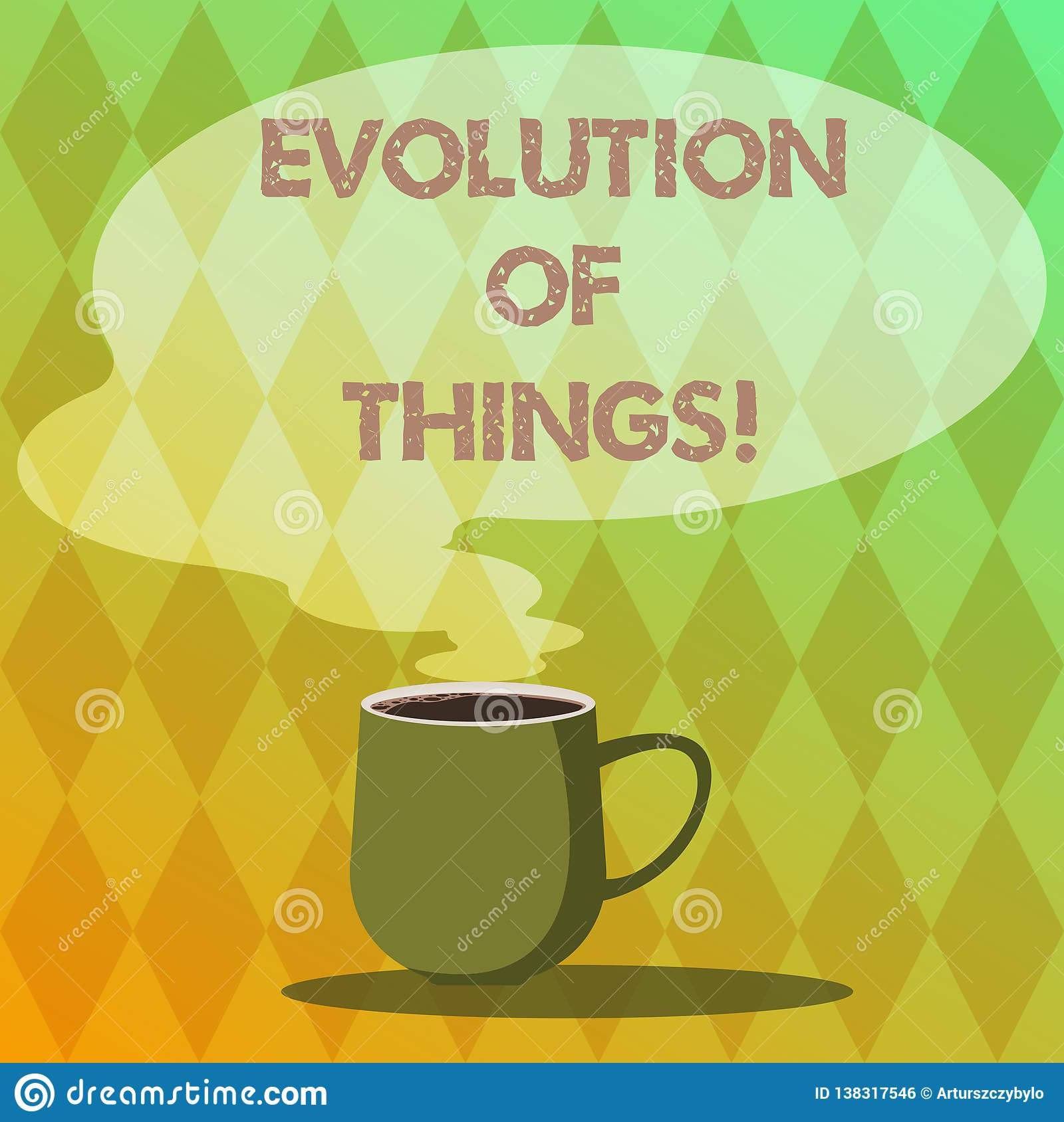 Handwriting Text Writing Evolution Of Things. Concept Meaning Process Gradual Change Takes Place Over Analysisy Stock Illustration - Illustration ...