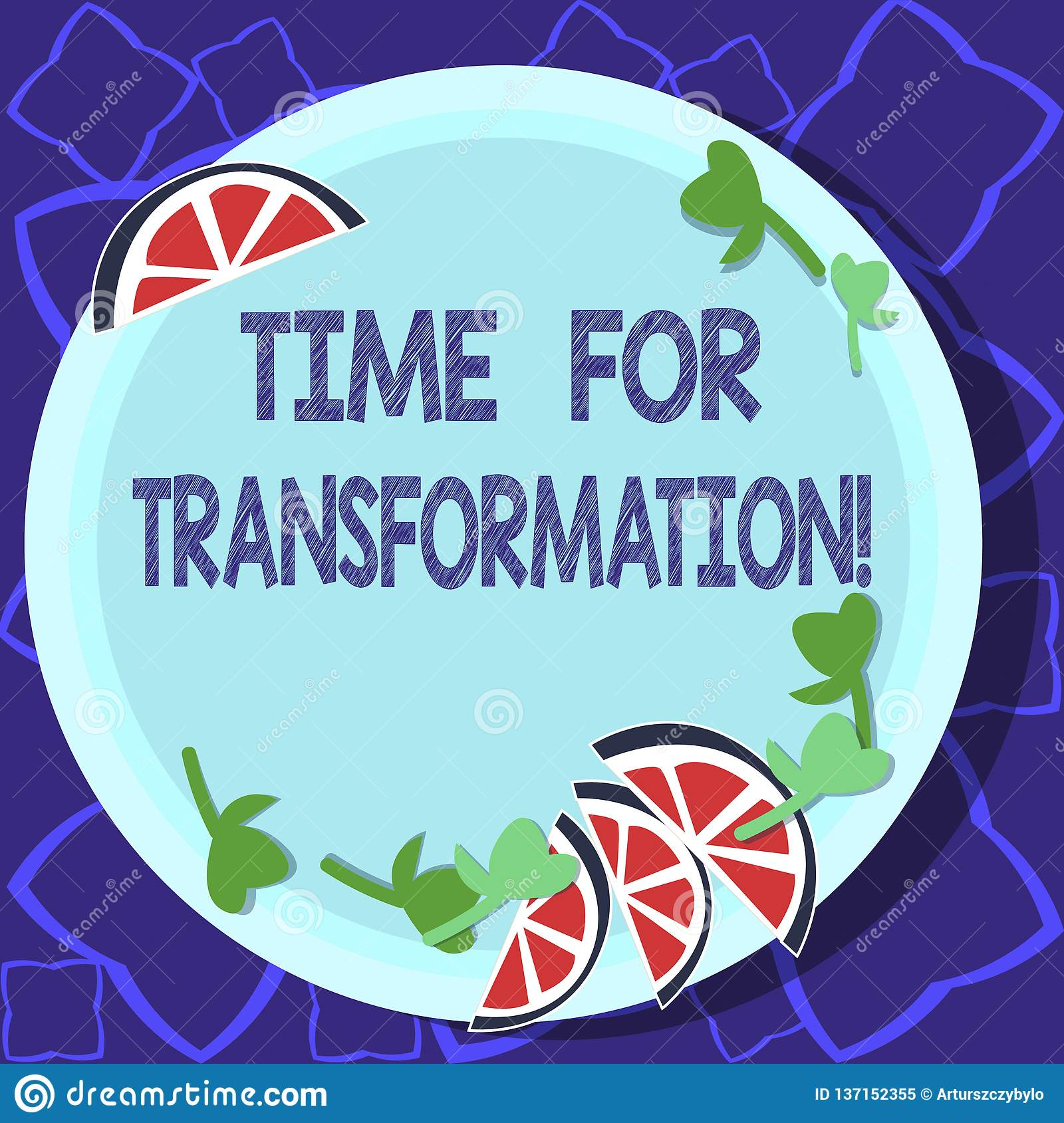 Handwriting Text Writing Time For Transformation Concept
