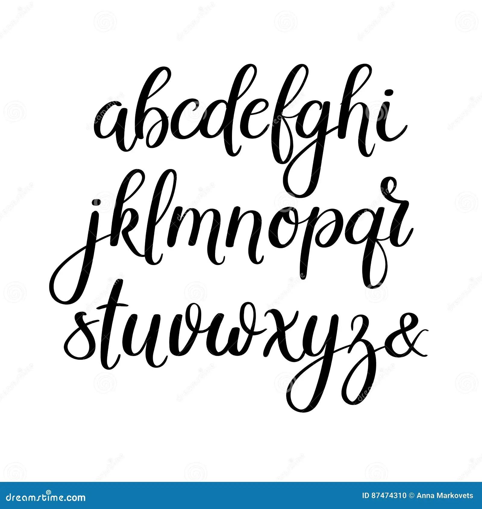 Handwritten Brush Letters. ABC. Modern Calligraphy. Hand