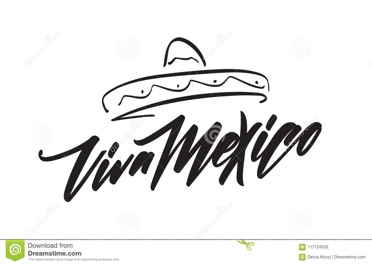 Handwritten Lettering Of Traditional Mexican Phrase