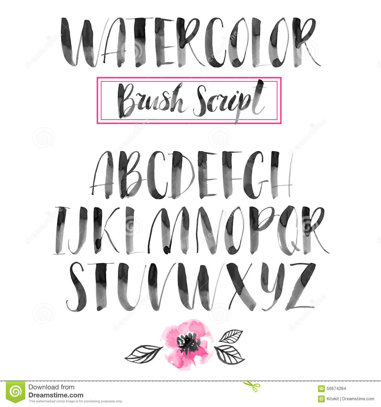 Handwritten Watercolor Calligraphic Font Modern Brush