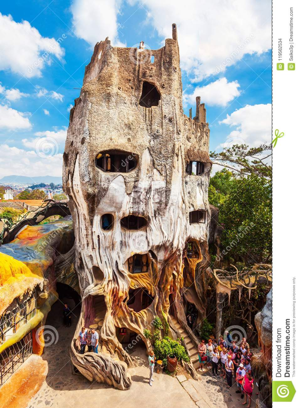 Hang Nga Guesthouse In Dalat Editorial Stock Image Image