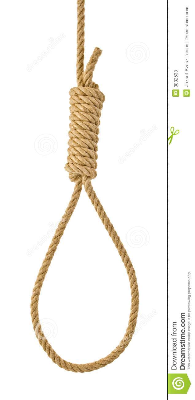 hight resolution of hanging noose