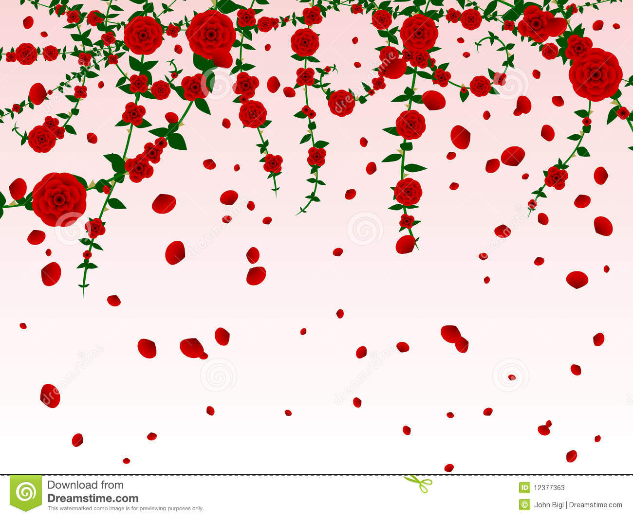 Rose Petals Falling Wallpaper Transparent Gif Hanging Roses Background Stock Illustration Illustration