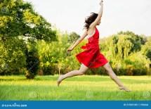 Women Running in Dresses