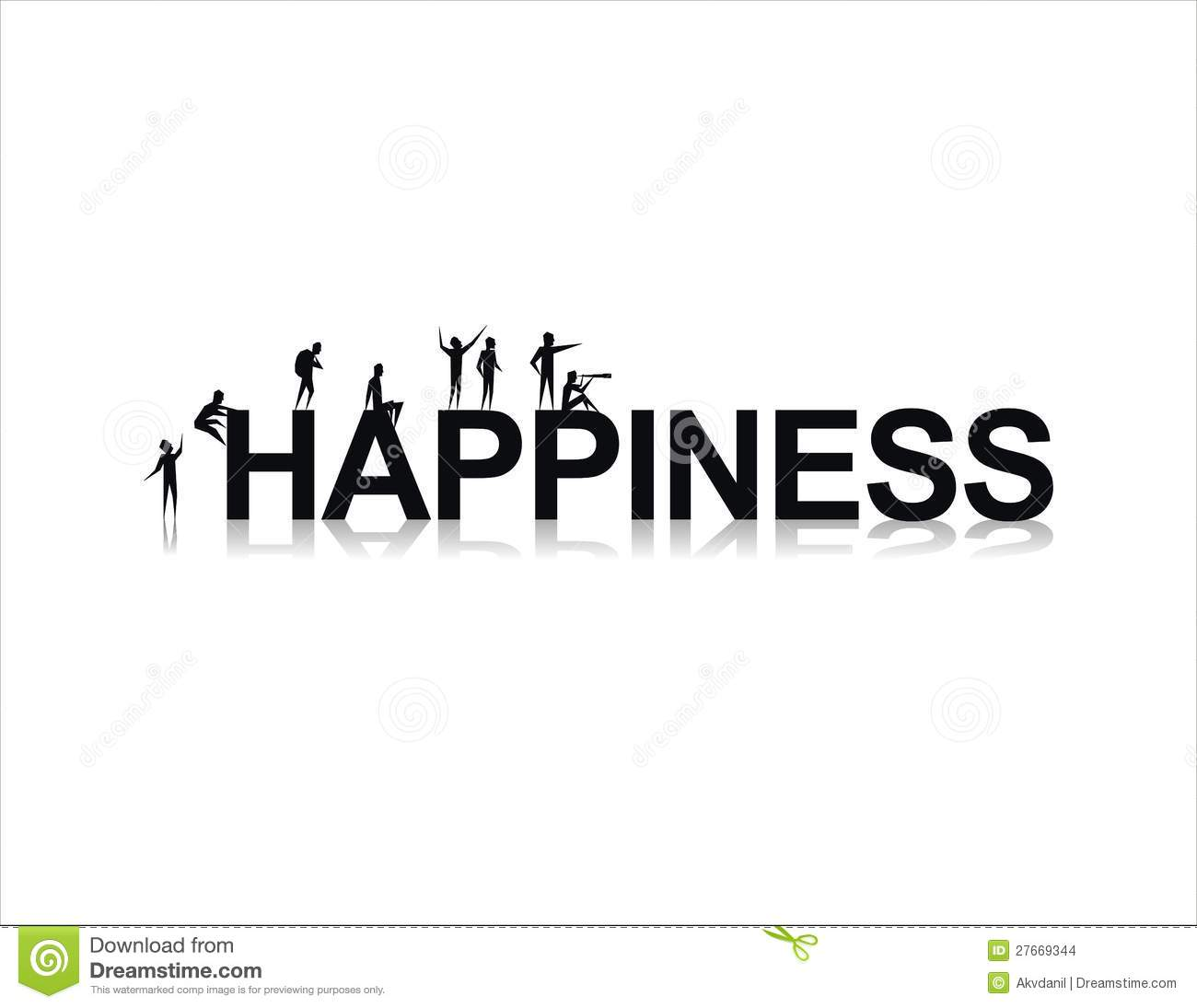 Happiness stock vector. Image of people, philosophy