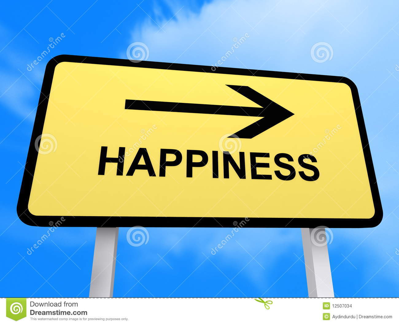 Happiness Sign Stock Images  Image 12507034