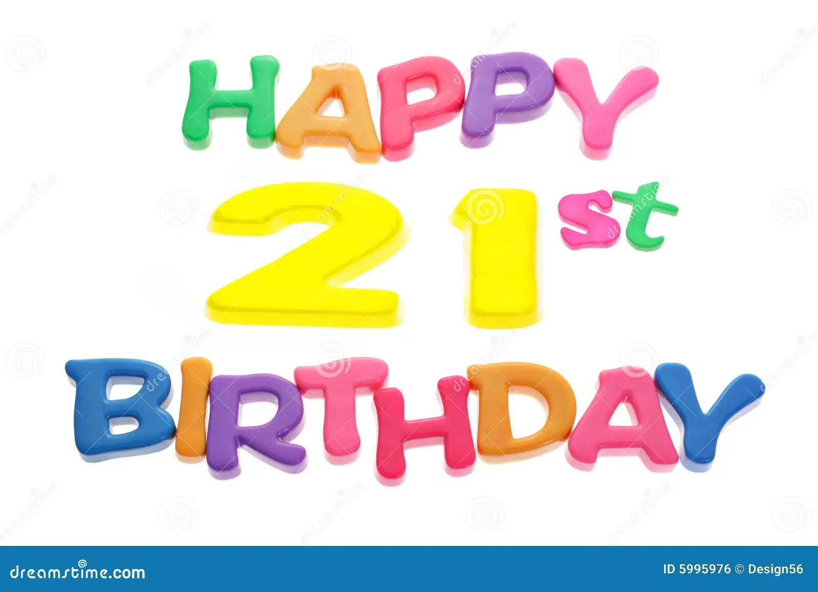 happy 21st birthday stock
