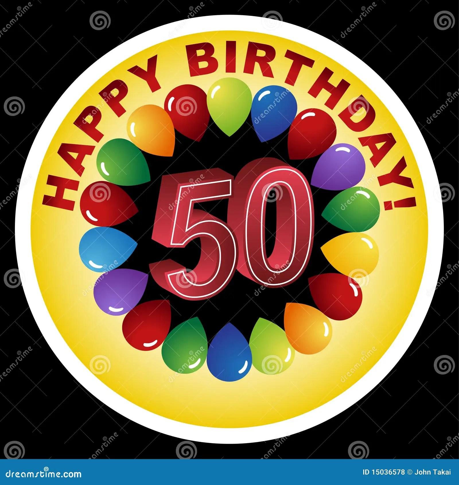 happy 50th birthday stock