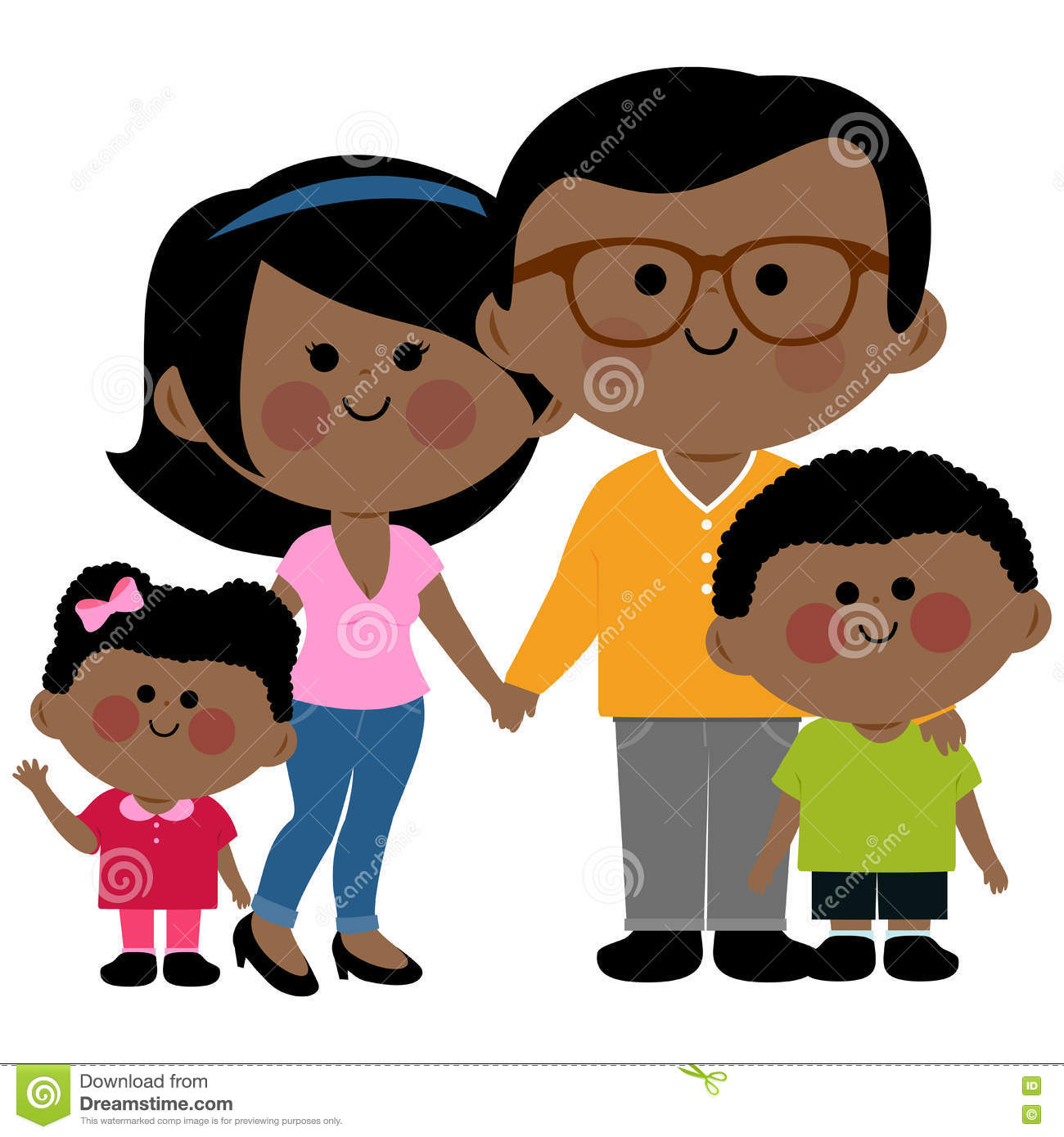 hight resolution of happy african family