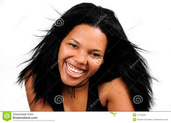 Happy African Hispanic Girl Royalty Free Stock