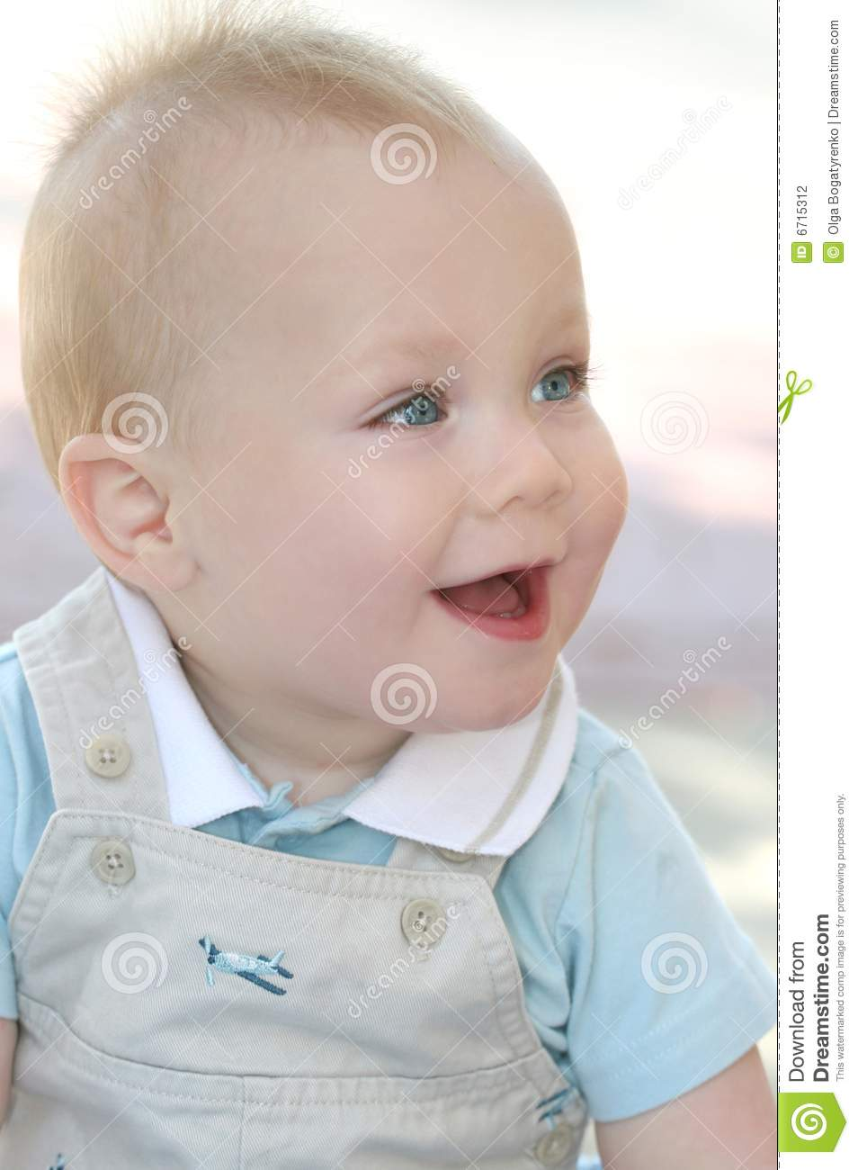 Happy Baby Boy With Blue Eyes Stock Photography Image
