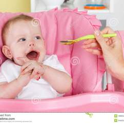 Baby Eating Chair Poly Wood Adirondack Chairs Happy Stock Image Of High Food