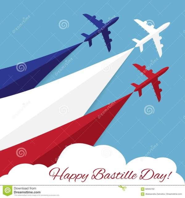 Happy Bastille Day. Independence Day Of France Stock