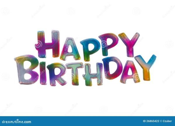Happy Birthday Words Clip Art