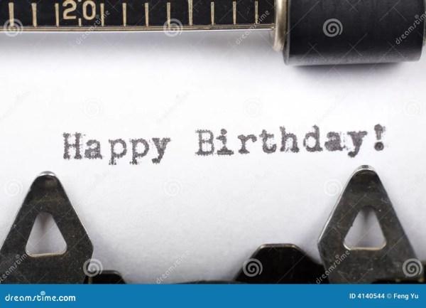Happy Birthday Stock Of Close Fashioned