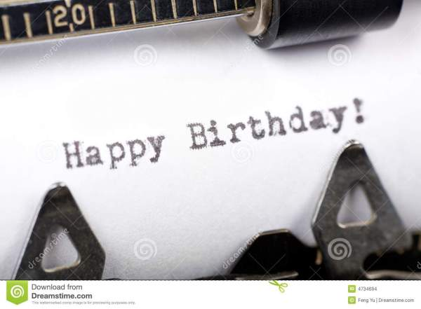 Happy Birthday Stock Of Fashioned Words
