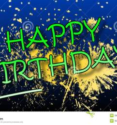 happy birthday animation with fireworks stock video video of vector congratulation 39911589 [ 1300 x 821 Pixel ]
