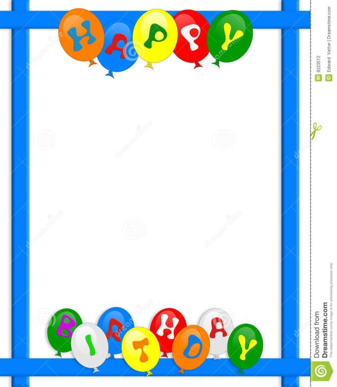 Birthday invitation frames and borders frameviewjdi happy birthday balloons border frame stock ilration filmwisefo